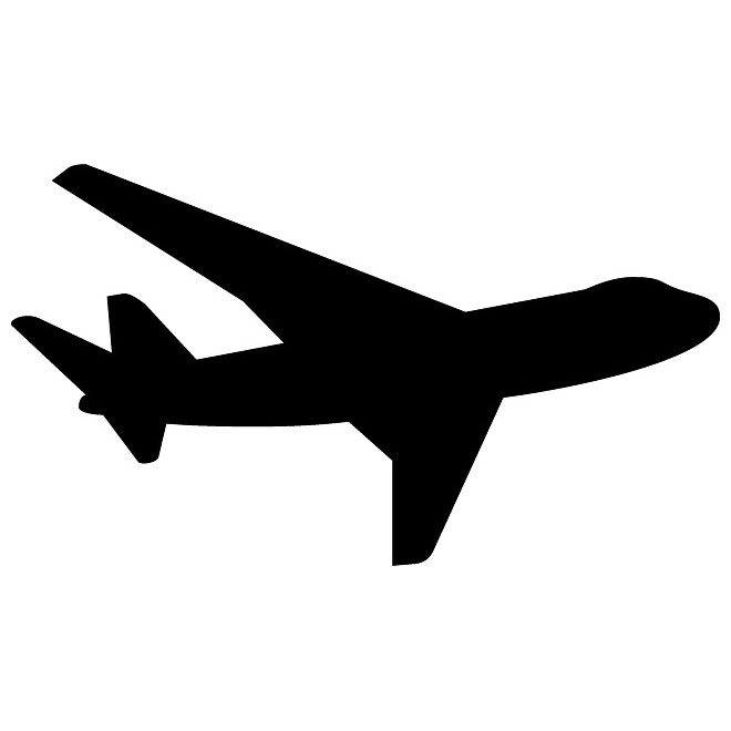 14 Airplane Silhouette Vector Free Images