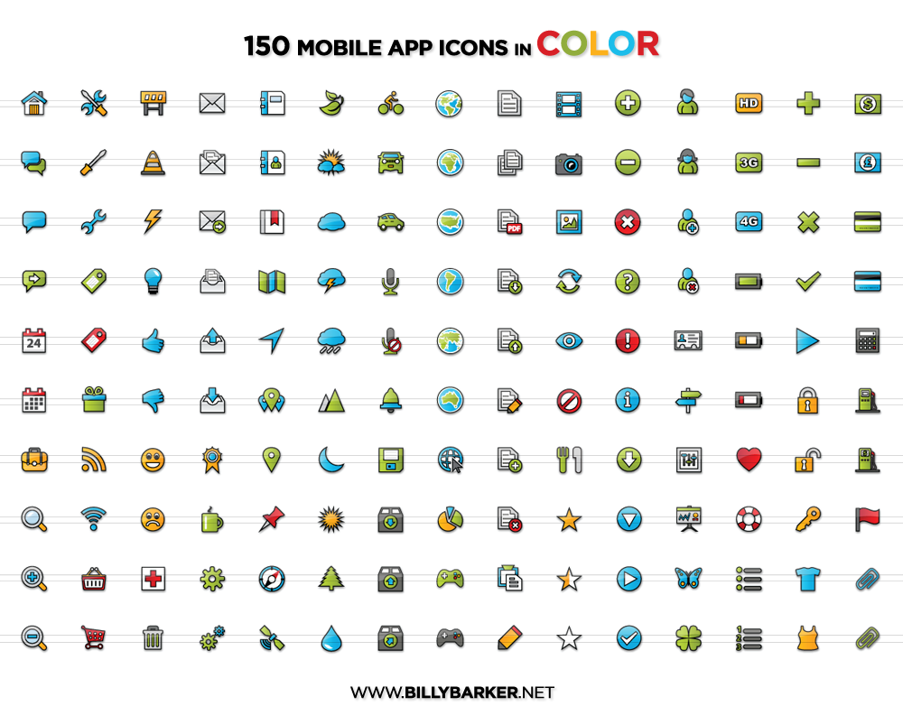 13 Mobile App Icons Printable Images