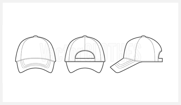 14 baseball hat template vector images baseball cap vector template baseball cap vector. Black Bedroom Furniture Sets. Home Design Ideas