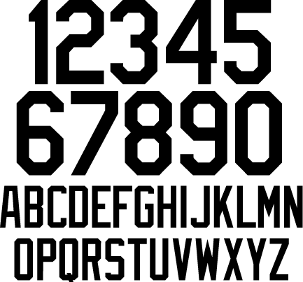 Baseball Jersey Letters And Numbers