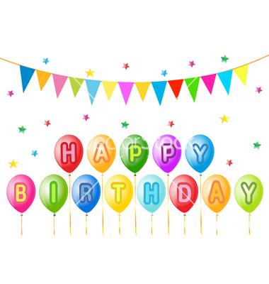 Birthday Balloons Vector Art