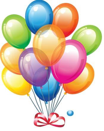 19 Birthday Balloons Vector Images
