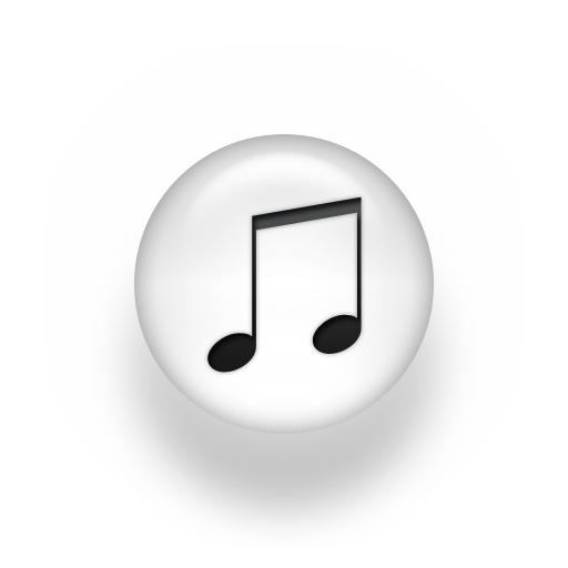 19 White Music Note Icon Images