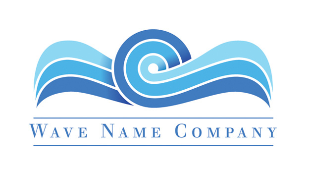7 Wave Logo Design Images