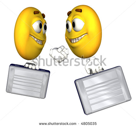 Business People Smiley-Face Emoticon