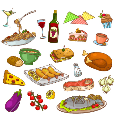 11 Restaurant Food Vector Images