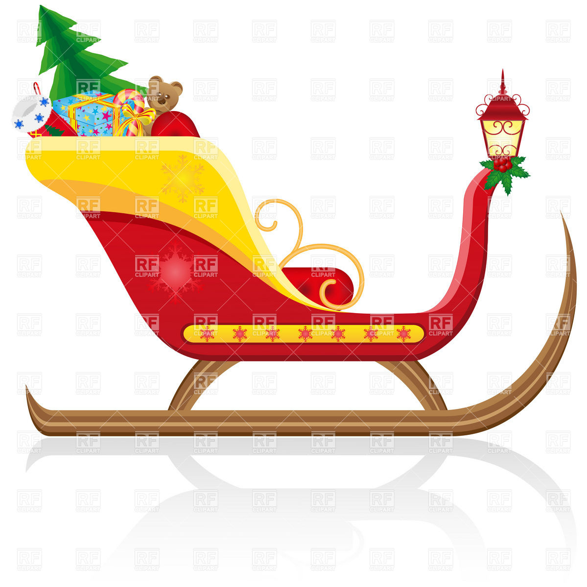 14 Sled Vector Christmas Free Images