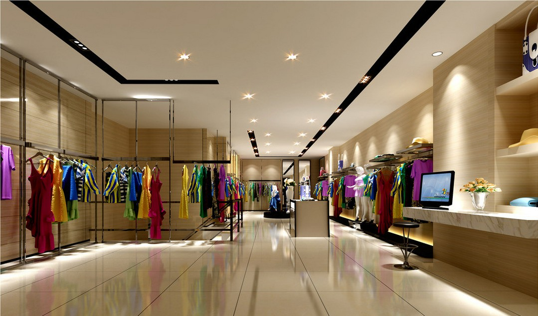 16 3d garment shop design images retail store 3d design for Boutique interior design