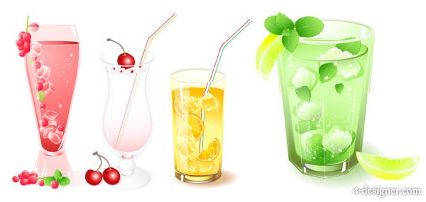 7 Frozen PSD Drinks Images
