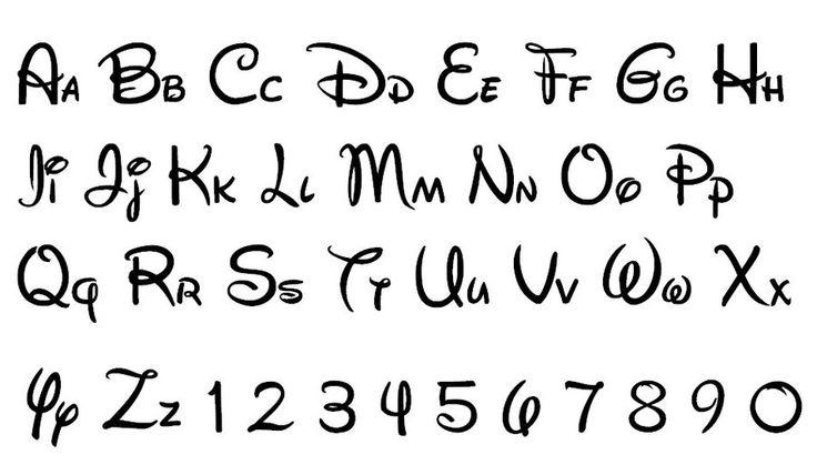 18 Alphabet Disney Font Images