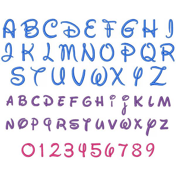 Disney Font Alphabet Letters