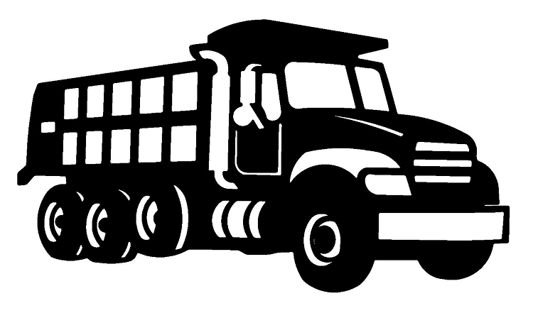 18 Dump Truck Vector Black And White Images