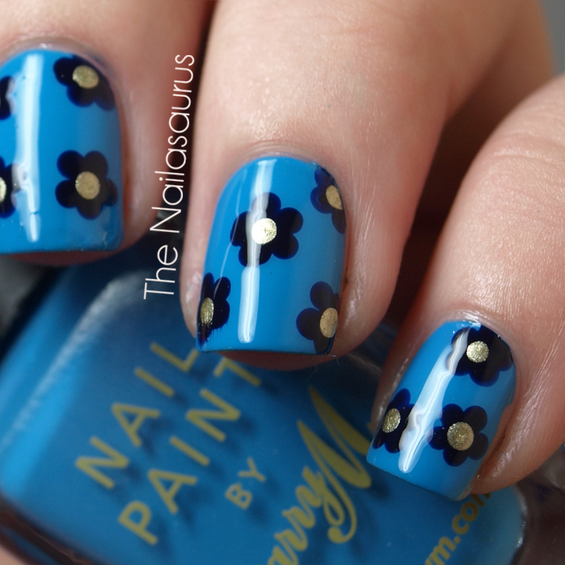 14 Simple Flower Nail Art Design Images - Nail Art Designs with ...