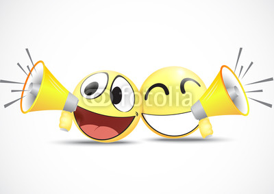 Emoticon with Megaphone