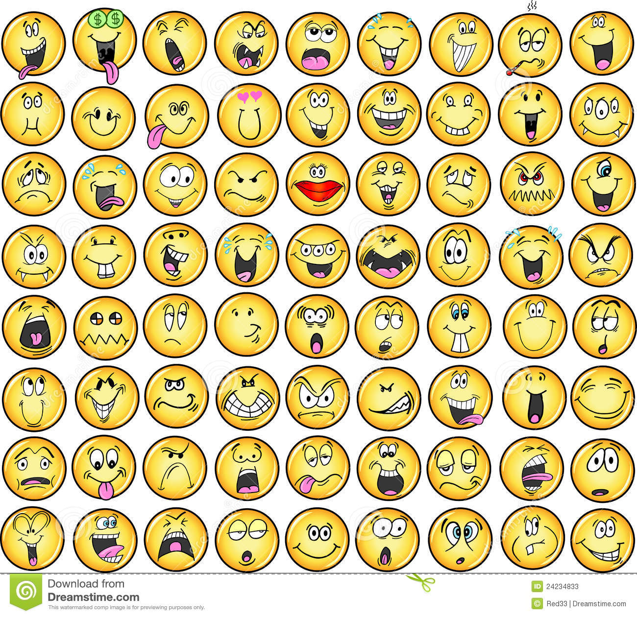 Emotional Icons Emoticons