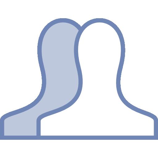Facebook Friends Icon Vector