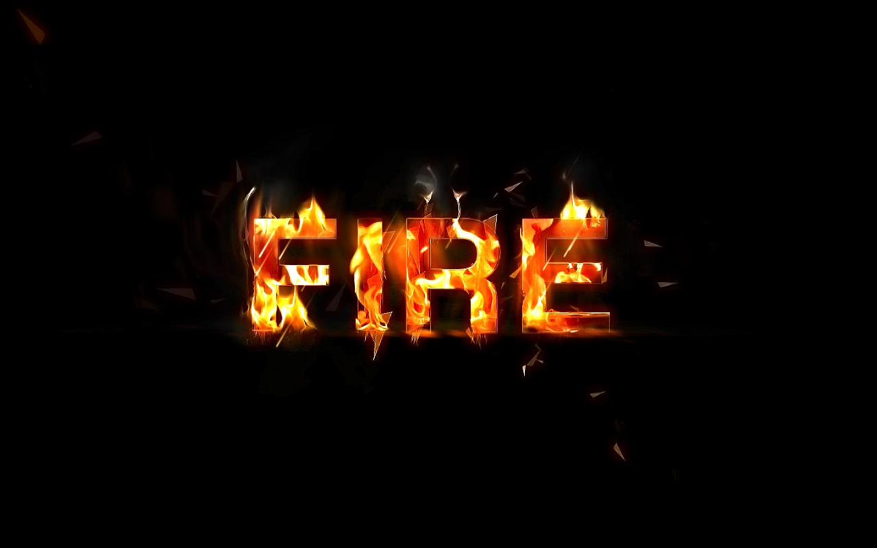 17 Fire Font Photoshop Images
