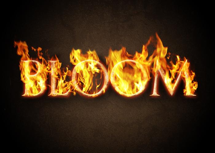 Как сделать надписи огнем