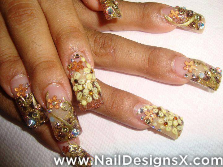 Flower Acrylic Nail Design