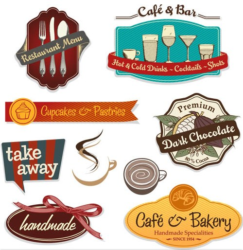 Food Label Vector Free