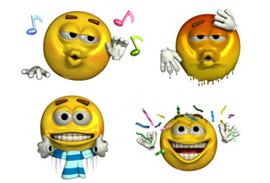 8 Animated Moving Emoticons Free Images