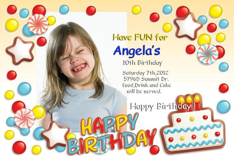 Free Birthday Invitation Templates Photoshop