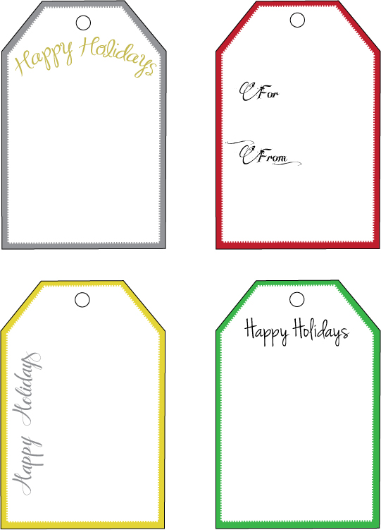 Christmas Tag Template  WowcircleTk