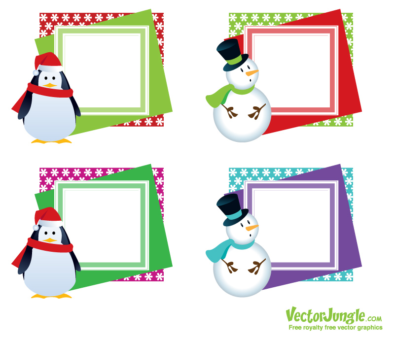 Free Christmas Vector Art Frames