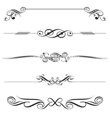 11 free decorative elements vectors images vector for Decoration elements