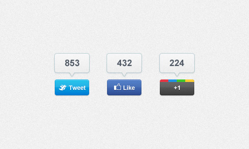 6 Facebook Share Button PSD Images