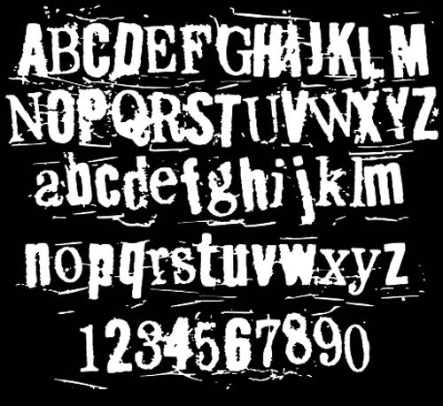 12 Vintage Grunge Script Fonts Images - Vintage Retro