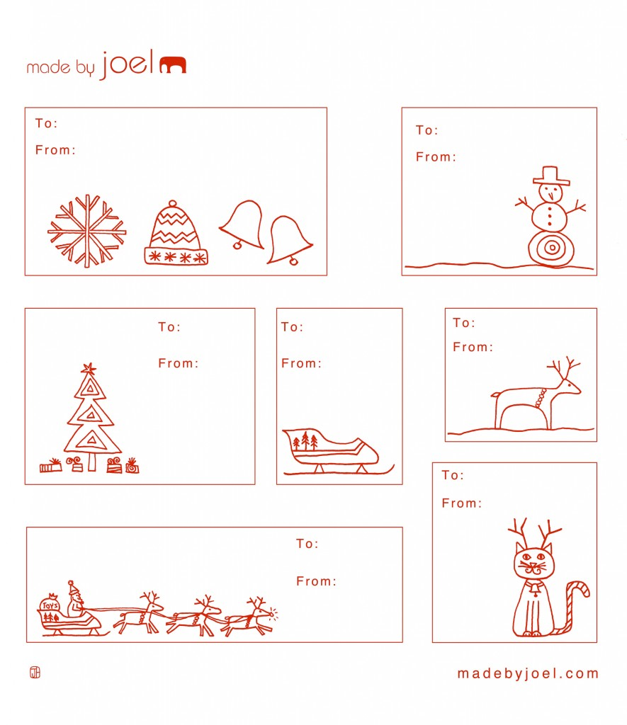 12 Christmas Gift Tag Templates Images