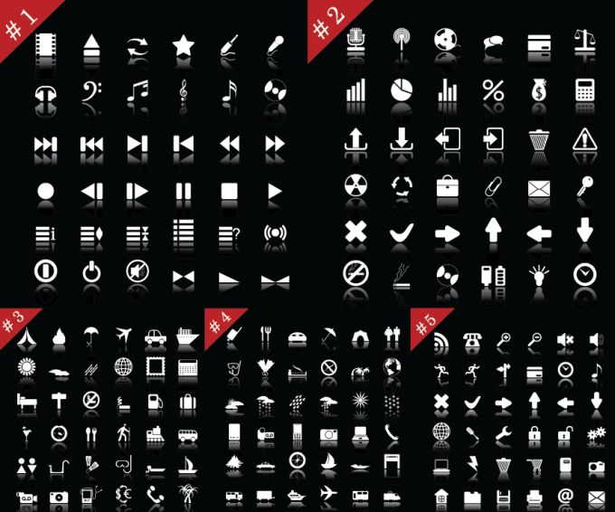 15 White Web Icons Images