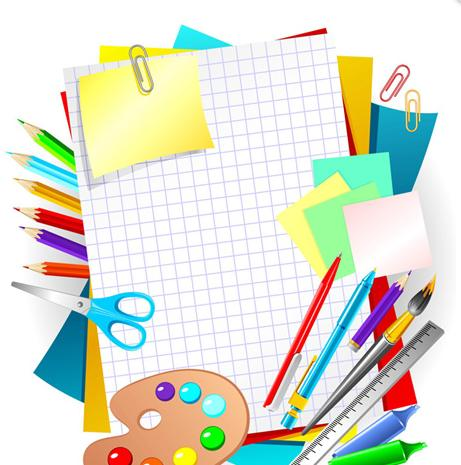 Free Vector School Supplies