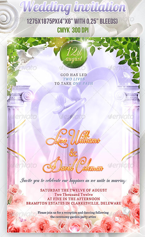 12 PSD Invitation Templates Images