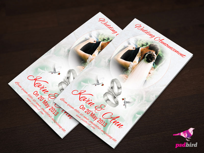 Free Wedding Invitation PSD