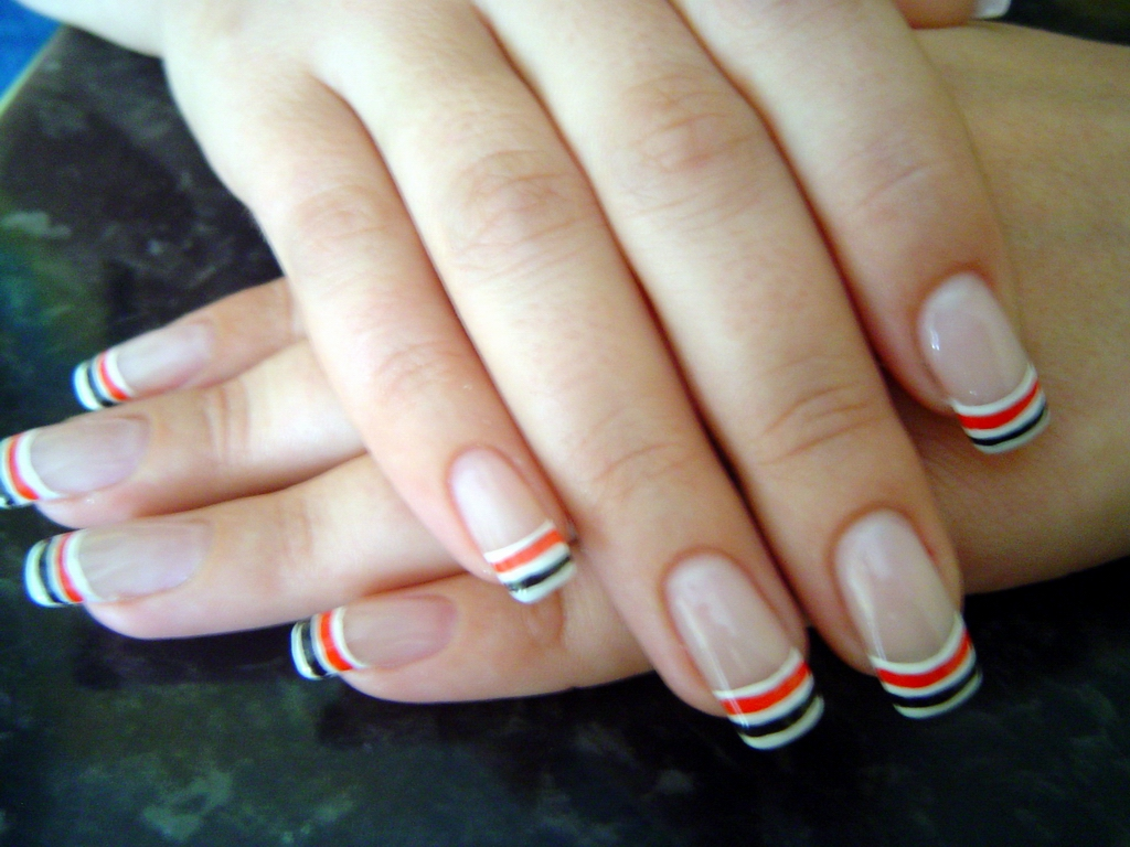 13 White French Nail Art Designs Images