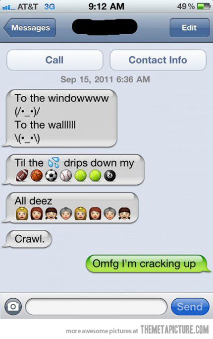 Funny Text Messages with Emoticons
