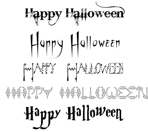 8 Halloween Writing Fonts Images