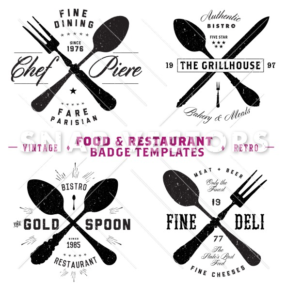 Hipster Restaurant Logo