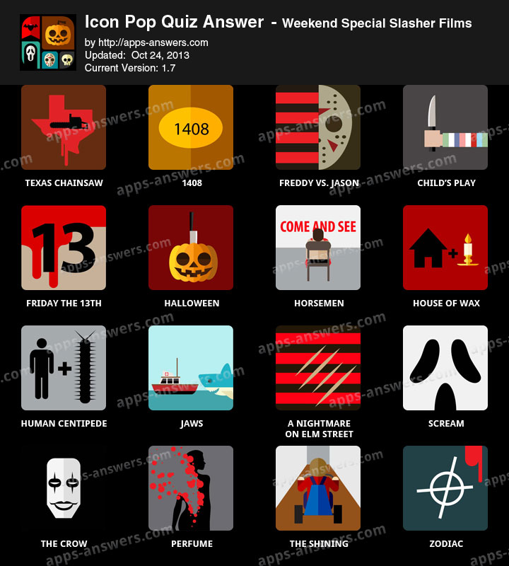 19 Icon Pop Quiz Slasher Films Images