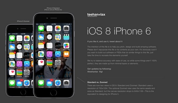5 IOS 8 IPhone 6 GUI PSD Images