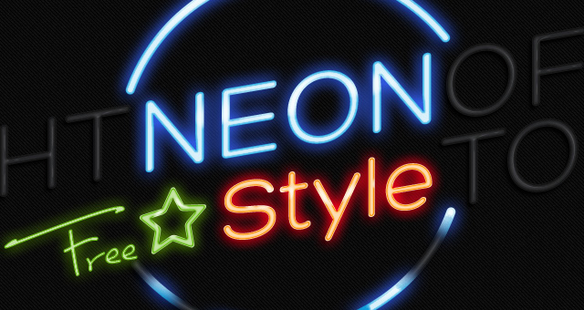 20 Photoshop Neon PSD Images