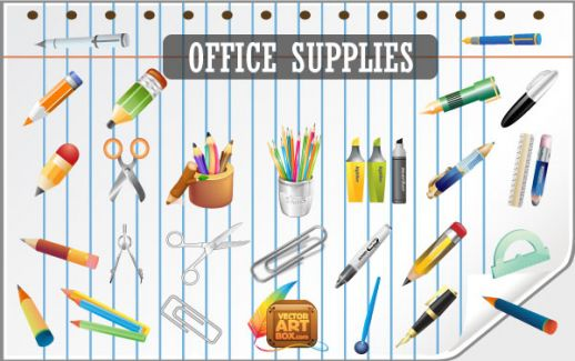 Office-Supplies Icon Vector Free