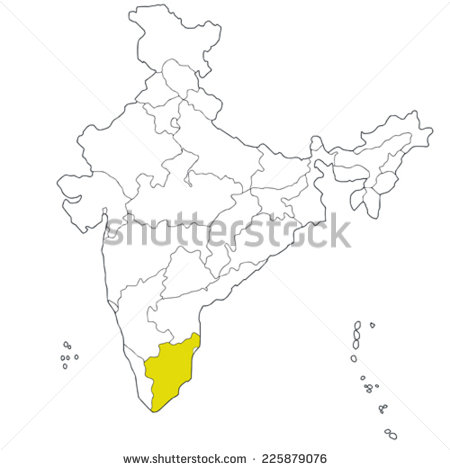 Outline Map of Southern States