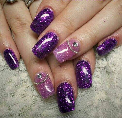 14 Purple Nail Art Designs Images - Purple Nail Art Design, Purple ...
