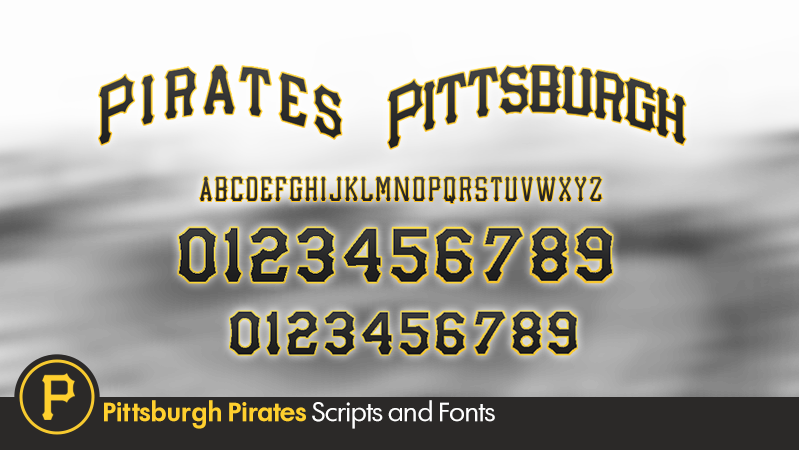 14 Pirate Baseball Font Images Pittsburgh Pirates Number