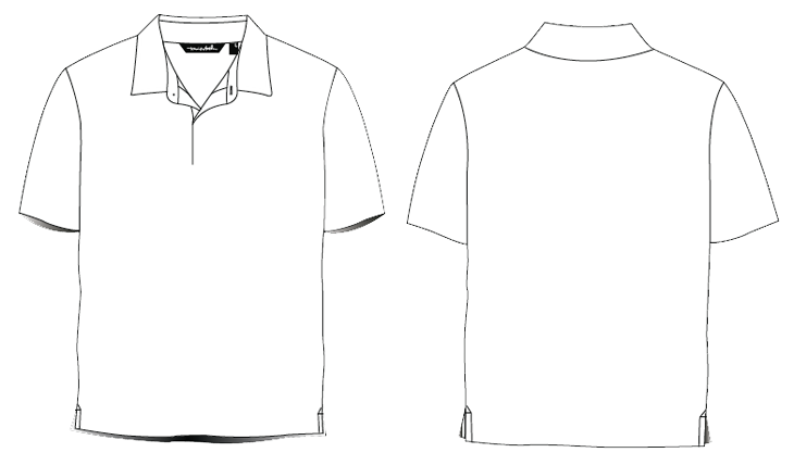 14 Polo Shirt Template Design Images