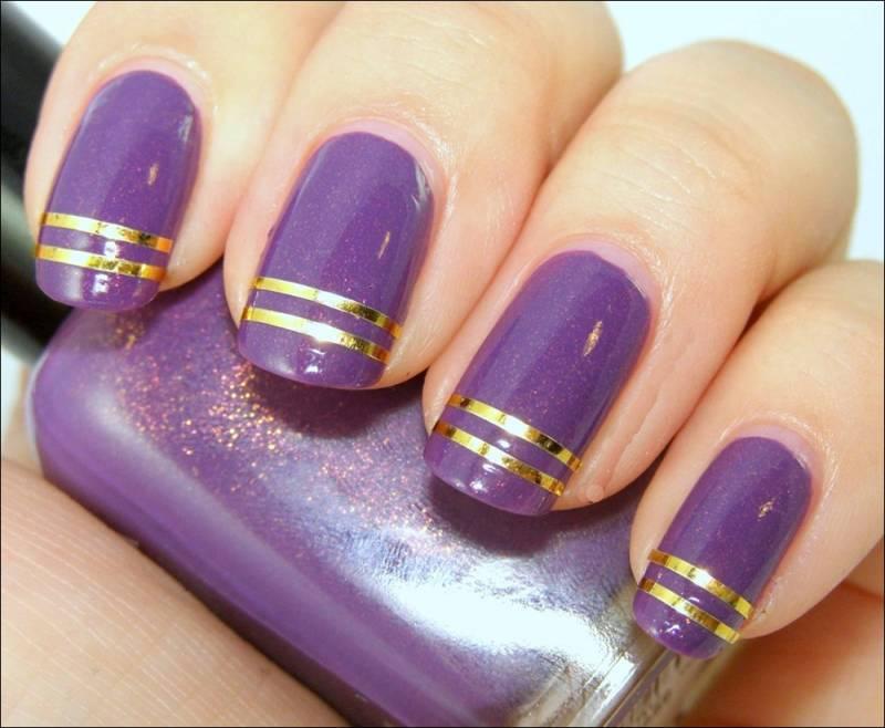 14 Purple Nail Art Designs Images