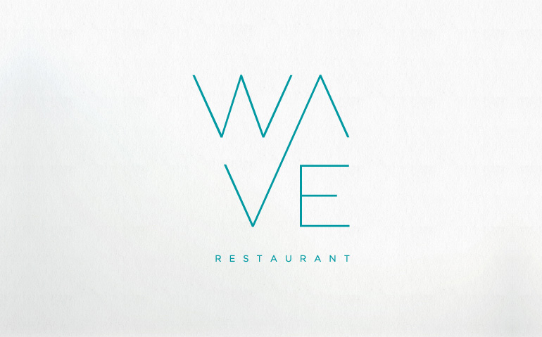 Restaurant Logos with Waves